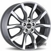 8x19 5x108 ET45 CTR63.4 Alu Mak Highlands Silver (DED:Land Rover ) F8090HISI45GD3X