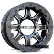7x14 4x137 ET4B+3N CTR  F1 (Forged) (Msa) Black/Machined F1-04737