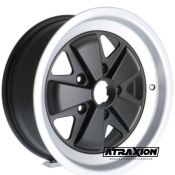 8x16 5x130 ET10,6 CTR71,6 Alu Fucinati Classic 170 not OE! (Retro) Matt Black Polished 100931