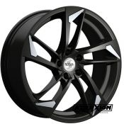 8x18 5x112 ET35 CTR66,5 Alu Sp46  (Spath) Black Matt Special Lip Polished SP468X18355X11266540