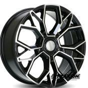 8.5x20 5x160 ET50 CTR65.1 Alu Atraxion Vanstar Black Polished (DED:Ford )