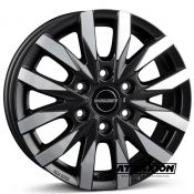 7.5x18 6x130 ET47 CTR84.1 Alu BORBET Cw 6 Black Polished Matt 496928
