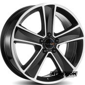 7.5x18 5x108 ET45 CTR65.1 Alu Ruuud Mammut5 Gloss Black Diamond A225A75455108651ND