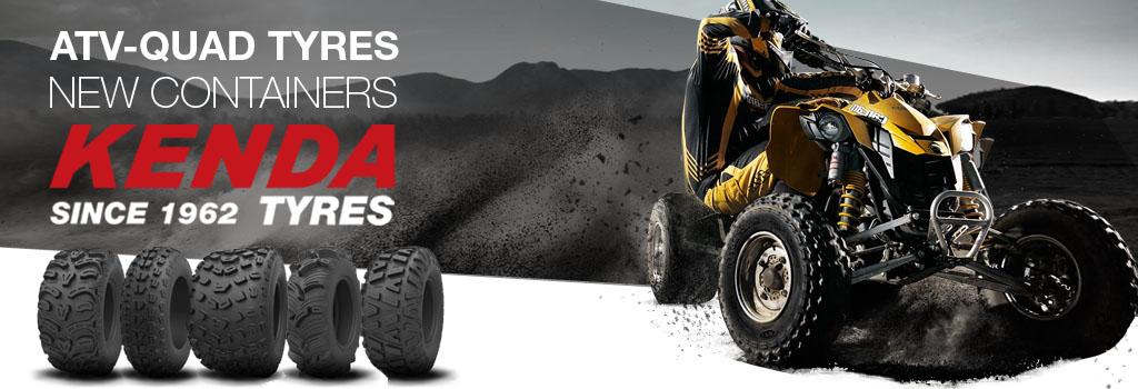 ATX - Quad Kenda tyres New container arrival